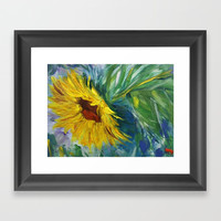 Sunflower Framed Art Print by Express Yourself Studios, LLC