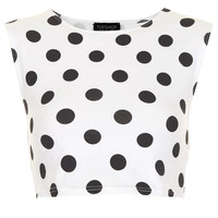 Spot Stretch Crop Top - New In This Week - New In - Topshop USA
