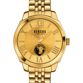 Versus by Versace Men's Chelsea Gold-Tone Ion-Plated Stainless Steel Bracelet Watch 42mm SOV060015 | macys.com