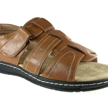 Men's JF1-33 Comfort Insole Strappy Caged Open Toe Sandals