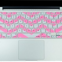 "Kuzy - Baby Pink Chevron Zig-Zag Keyboard Cover for MacBook Pro 13"" 15"" 17"" Aluminum Unibody (fits MacBook with or w/out Retina Display) iMac and MacBook Air 13"" Silicone Skin - Baby Pink Rose:Amazon:Computers & Accessories"