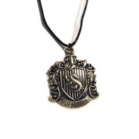 H.P. Badger School Crest Necklace