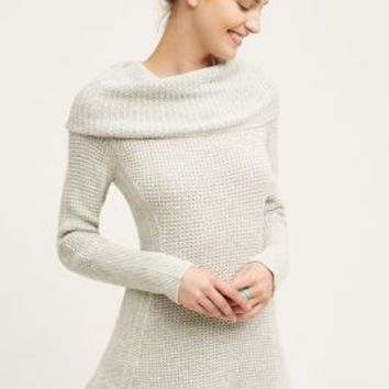 Moth Sculpted Cowl Pullover in Light Grey Size: