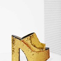 YRU Dream Sequin Platform - Gold