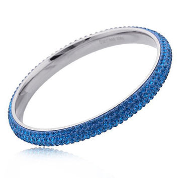 Blue Crystal Golden State Warriors Colors Bangle