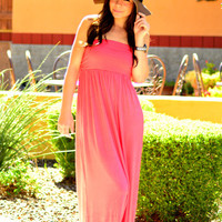 ON THE RUN MAXI DRESS IN CORAL