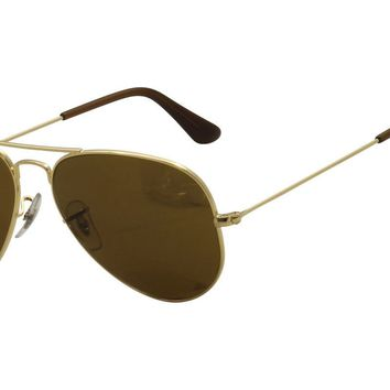 Ray Ban Men's RB3025 RB/3025 001/33 Gold Aviator Sunglasses 55mm