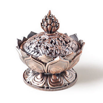 Bronze Incense burner censer ~Lotus shape ~metal crafts
