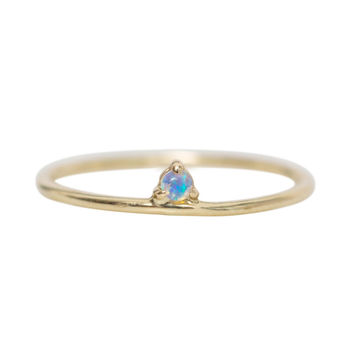 One Step Ring, Opal - Catbird