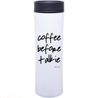 Coffee Before Talkie SALE travel tumbler, funny gift, teacher,  Hustle, Get It Girl, Boss, Gift For Her,Stocking Stuffer