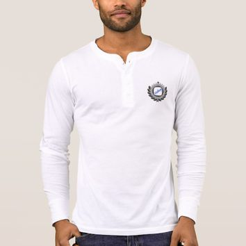Men's long sleeve shirt with a vintage logo