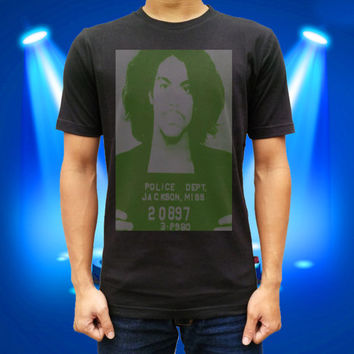 Prince Mugshot (Public Record) for men and women t shirt cotton t shirt