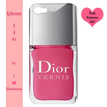 Iphone 5  / 4 / 4s Case  - Pink Dior Nail Polish - Iphone 5 case,Iphone 4/4s case,Iphone 5 cover,Iphone 4 /4s cover,Iphone 5 /4 / 4s skin