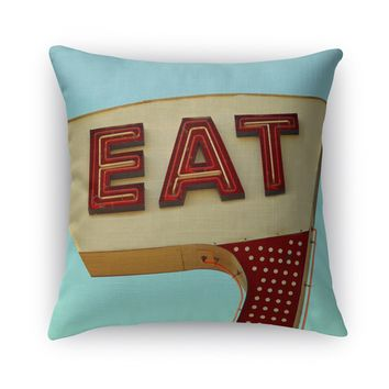 EAT Accent Pillow By Bomobob