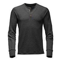 Men's Long Sleeve TNF™ Terry Henley in Dark Grey Heather by The North Face