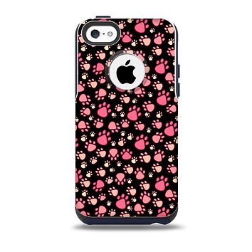 The Cut Pink Paw Prints Skin for the iPhone 5c OtterBox Commuter Case