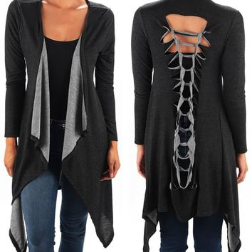 Funfash Plus Size Women Gothic Black Kimono Braided Duster Cardigan Made in USA