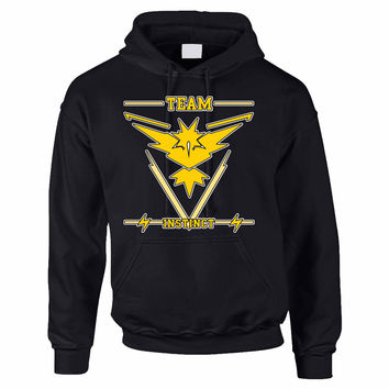 Adult Hoodie Sweatshirt Team Instinct Yellow Team Top
