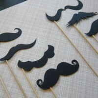 Photobooth Props Set of Eight Mustaches by LittleRetreats