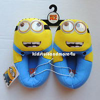 Despicable Me 2 Minions Plush House Slippers Costume  Shoes 11/12 13/1 2/3 4/5