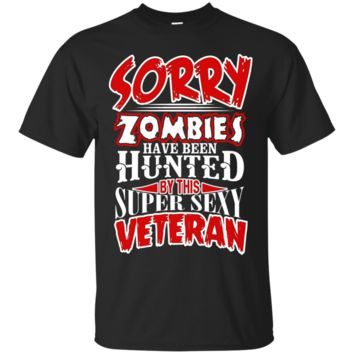 This Veteran used to Hunt Zombies Sexy Veteran T Shirt