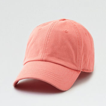 AEO Washed Out Baseball Cap, Orange