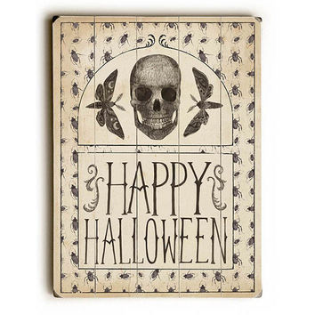 Happy Halloween by Artist Sara Zieve Miller Wood Sign