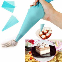 Silicone Reusable Cake Piping Bag - Icing Cream Pastry Decorating Tool