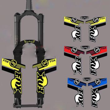 FOX32 Front fork stickers mountain bike bicycle safe protector Handmade reflective decals for MTB DH Race dirt free shipping