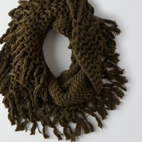 AEO Women's Knit Fringe Snood