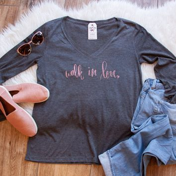 LIMITED EDITION Walk in Love Longsleeve V-Neck