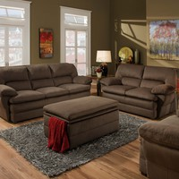 Simmons 6120 Malibu Beluga Sofa and Loveseat