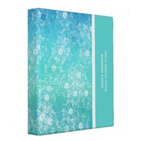 Shades Of Blue School Binder from Zazzle.com