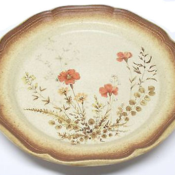Mikasa Stoneware Dinner Plate Whole Wheat Jardiniere Pattern Vintage Plate Replacement China