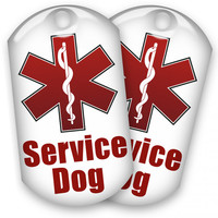 2 Service Dog ID Tags - 1 Low Price