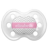 Gray & Pink Chevron & Monogram