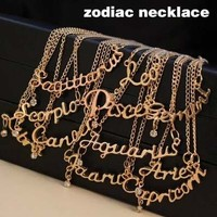 Zodiac Signs Fashion Gold Plated Infinity Choker Necklace