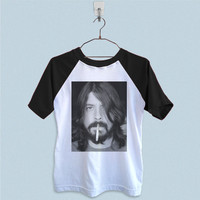 Raglan T-Shirt - Dave Grohl Smoking