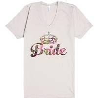 Floral Bride (Wedding Party Group Shirts)-Unisex Natural T-Shirt
