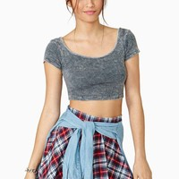 Summertime Feeling Crop Top - Gray