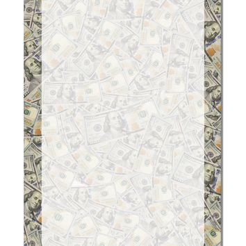 """Benjamins Aluminum 8 x 12"""" Dry Erase Board Sign All Over Print by TooLoud"""