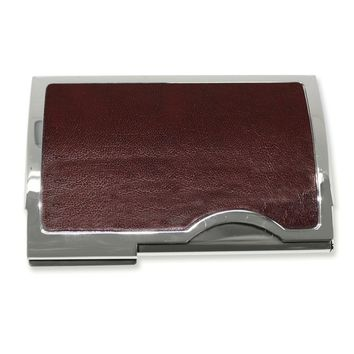 Brown or Black Leather Business Card Case