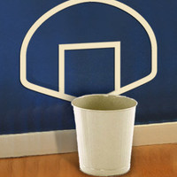 $15.00 WASTEBASKETBALL wall decals art graphics by ExpressionsWallArt