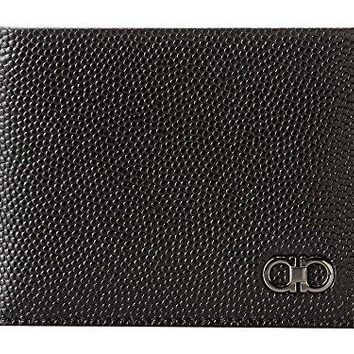 Salvatore Ferragamo Men's Ten-Forty One Bifold Wallet Nero Wallet