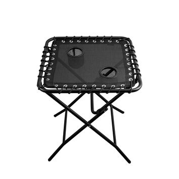 Outdoor Side Table Patio Folding Heavy Duty Coffee Table with Cup Holders for Picnic Outdoors