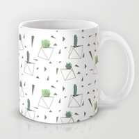 Succulents and Triangles Mug by Doucette Designs | Society6