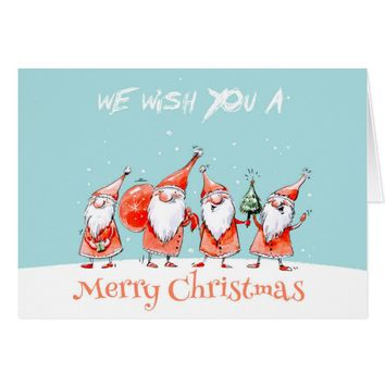 Cute Watercolor Christmas Greeting Cards