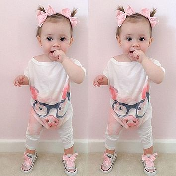 Newborn Infant Baby Girl Boys Cute Rabbit Bunny Rompers Jumpsuit Long Sleeve Clothing Outfits Girls Sunsuit Clothes