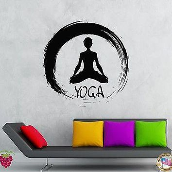 Wall Stickers Vinyl Decal Meditation Yoga Fitness Zen Cool Decor Unique Gift (z2097)