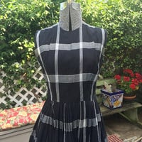 Classic Vintage 1950s mid century GIGI YOUNG rockin' Cotton Day Dress